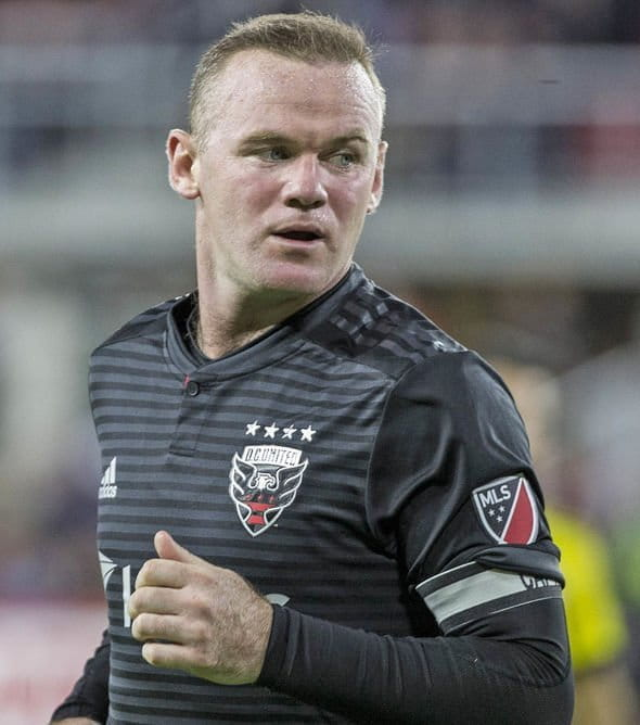 Wayne Rooney during a football match.
