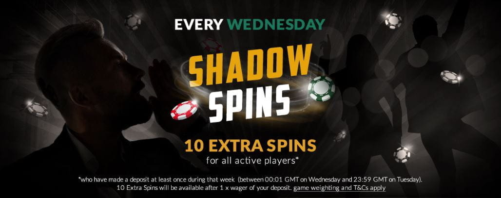 The Shadowbet Shadow Spins promotion.