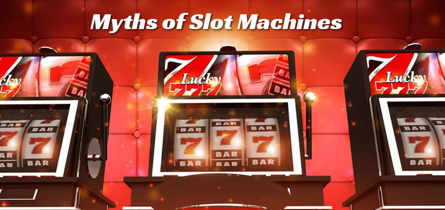 "Slot machines, with the headline ""Myths of Machines""."