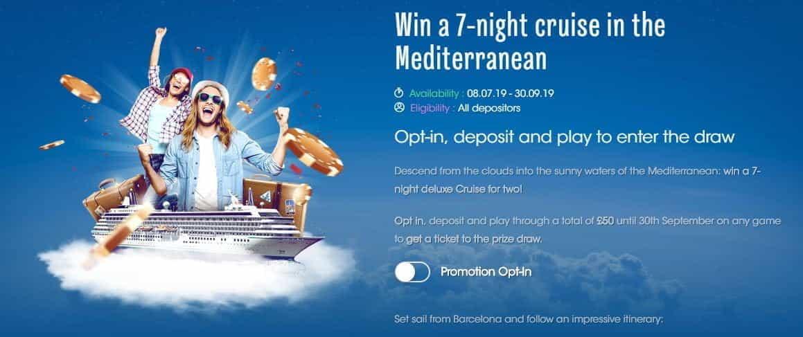 The 7 Night Mediterranean Cruise bonus at Sloty.