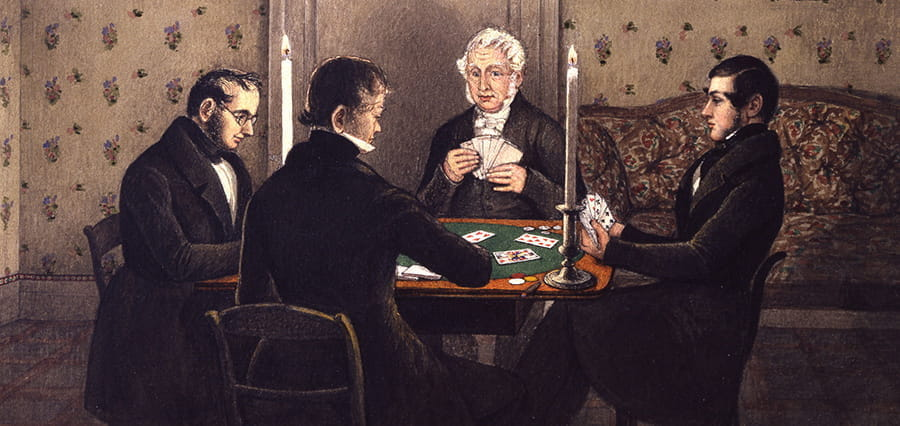An illustration of a game of whist.