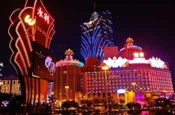 The Wynn and Grand Lisboa casinos in Macau.