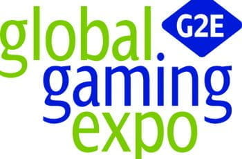 The logo of G2E.