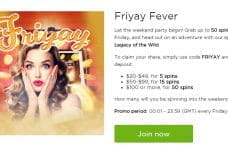 The Friyay Fever promotion from Casino.com.