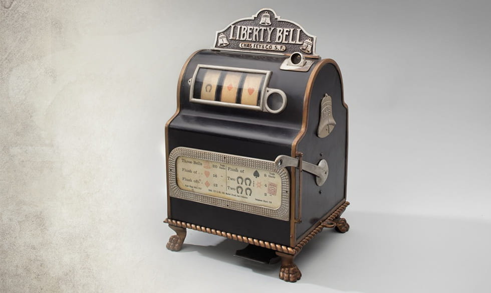 A Liberty Bell slot machine.