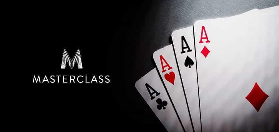 The Masterclass logo next to four Aces.