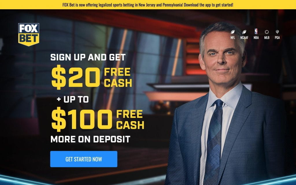 Fox Sports presenter and Fox Bet sign up package.