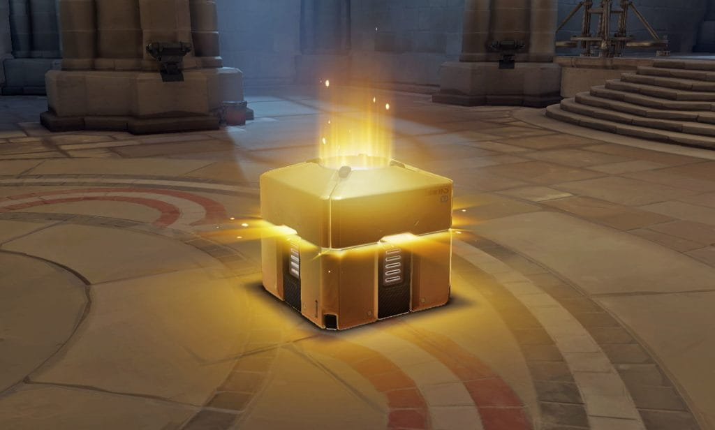 A loot box in a game by Blizzard Entertainment.