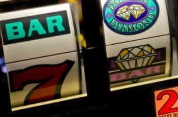 Close-up of a slot machine.
