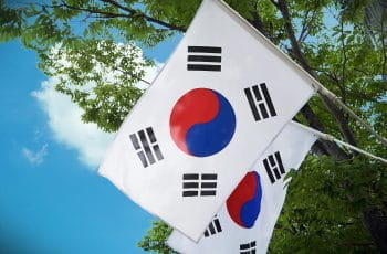 Two South Korean flags.