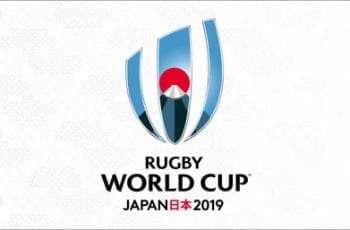 Banner for the Rugby World Cup 2019.