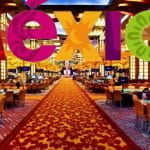 The main floor of a casino, with MEXICO written above.
