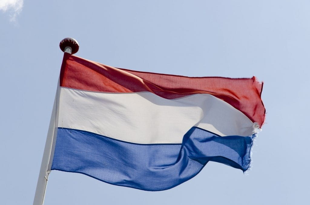 The flag of The Netherlands.
