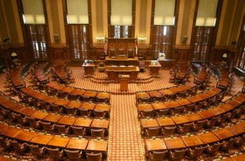 The house chamber for the Georgia House of Representatives.