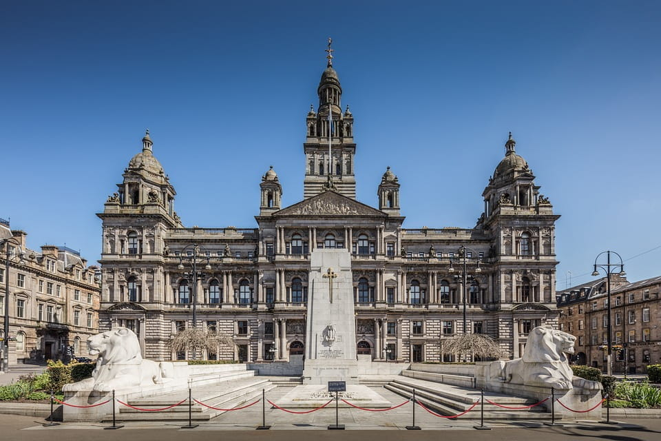 The Glasgow City Council building in George Square.