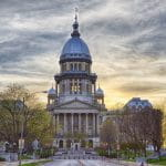 State Capitol Building in Springfield, Illinois.