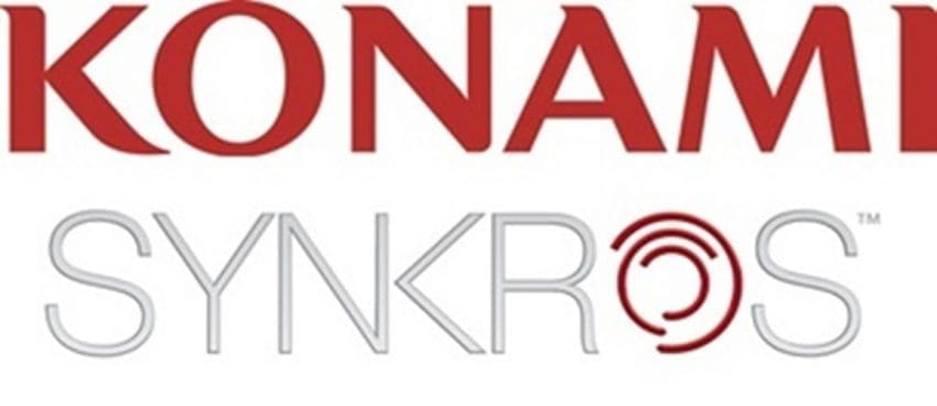 The logos of Konami and Synkros.