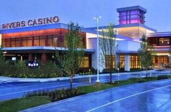 The exterior of the Rivers Casino, Pittsburgh.