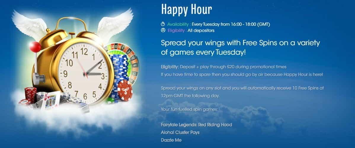 Sloty Happy Hour A Bonus Every Tuesday Online Casinos Com