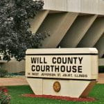 The exterior of the Will County Court in Joliet.