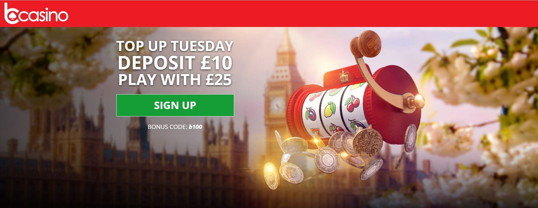 The Top Up Tuesday bonus deal from bCasino.