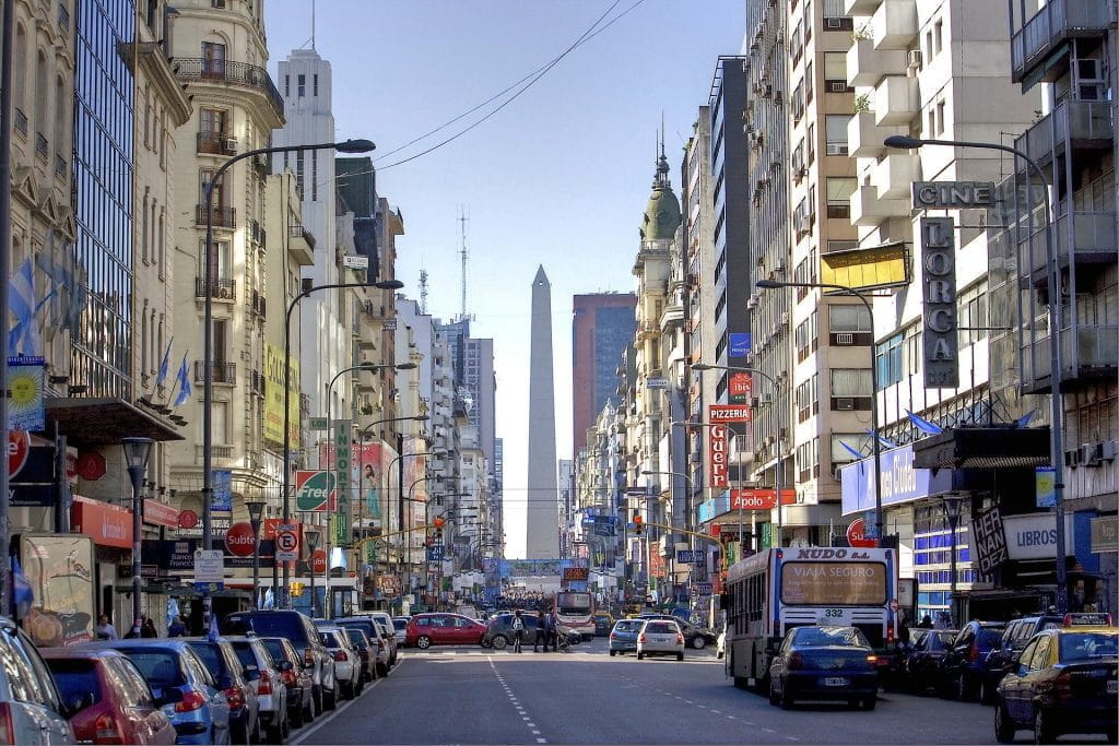 A street view of Buenos Aires.