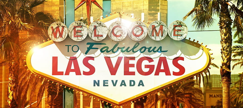 The Welcome to Las Vegas sign.