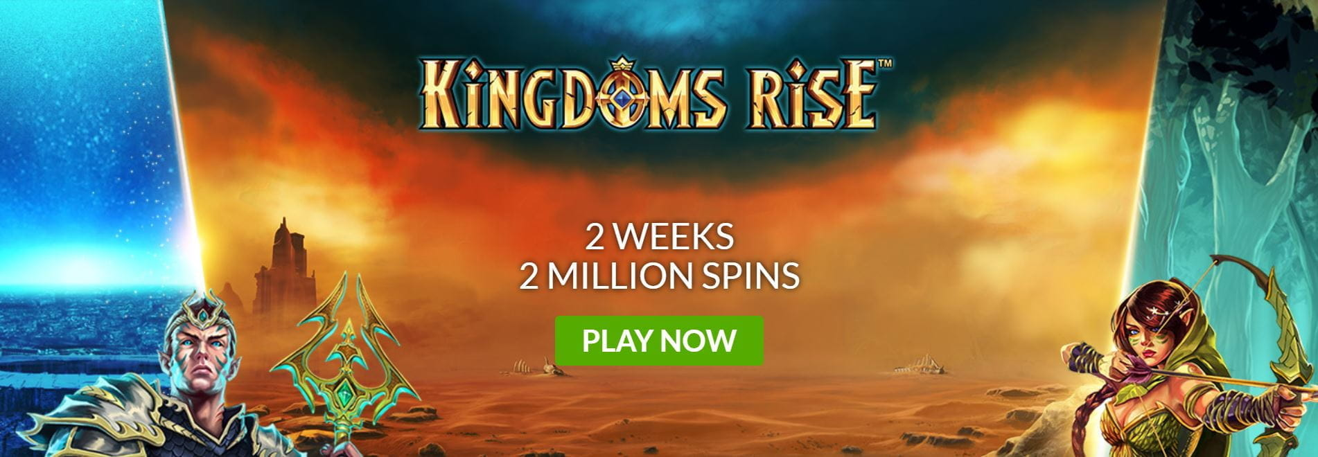 The Kingdoms Rise prize draw event from Mansion Casino.