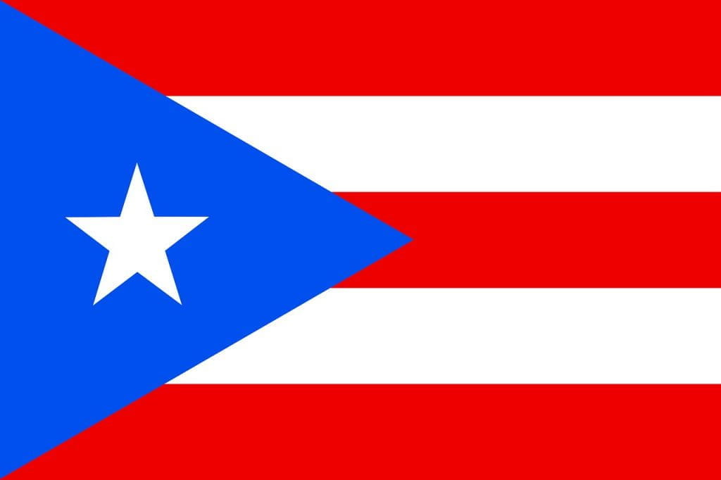 The flag of Puerto Rico.