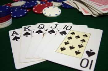 Poker hand consisting of a royal flush.