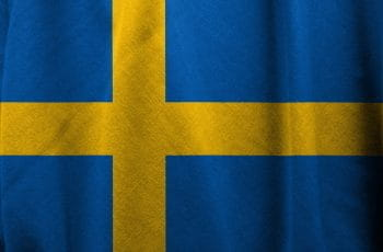The Swedish flag with a ripple effect.