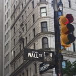 The Wall Street street sign in New York.