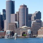 Boston city on the waterfront.