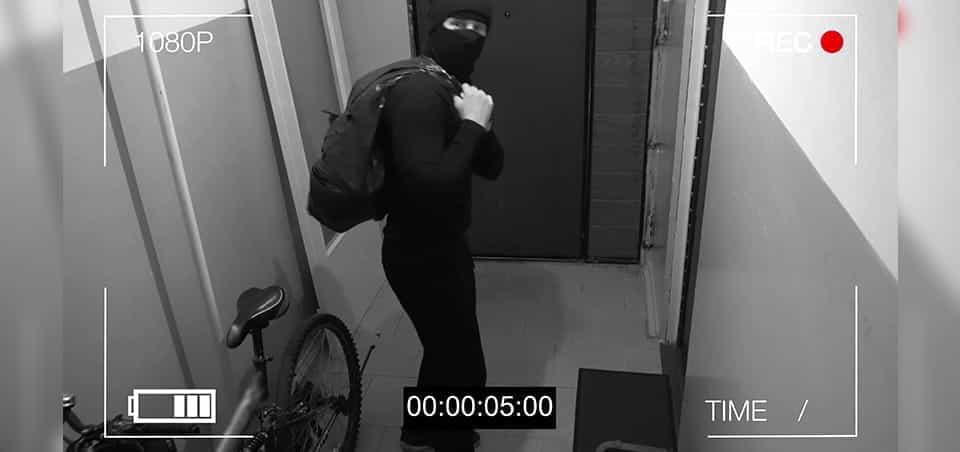 A thief caught on CCTV.