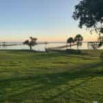 Lake Charles, Louisiana at dusk.