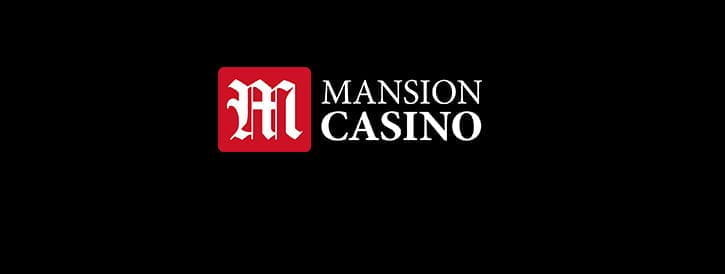 The Mansion Casino logo on a black background.