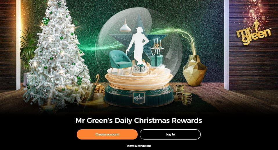 the 47 Days of Christmas bonus page at the Mr Green online casino.
