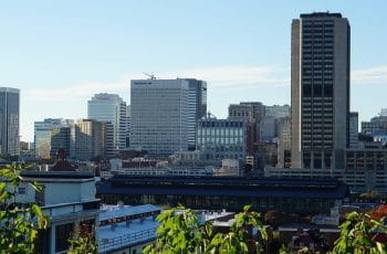 Richmond, Virginia's city skyline at day.