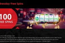 The Wednesday Free Spins bonus from bCasino.