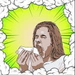 A sick person coughing.