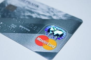 A silver credit card.
