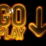 A glowing yellow neon sign reads 'GO PLAY' against a dark backdrop.