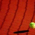 Tennis ball bouncing.