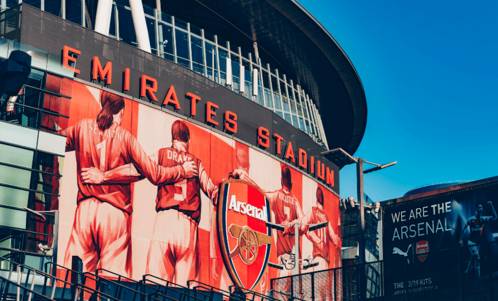 The Emirates Stadium, where Arsenal football club play.