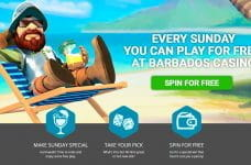 The Free Play on Sunday promotion from Barbados Casino.