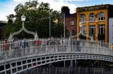 A footbridge in Dublin, Ireland.