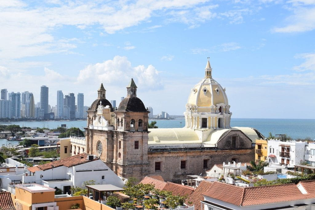A view of the skyline in sunny Cartagena de Indias, Colombia.