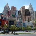 Casinos and attractions along the Las Vegas Strip.