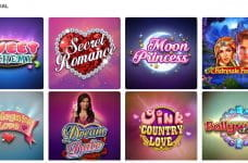 A selection of slot games that are part of the NetBet Love Special promotion.