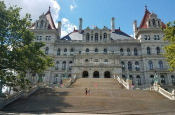 Exterior of New York State Capitol in Albany.